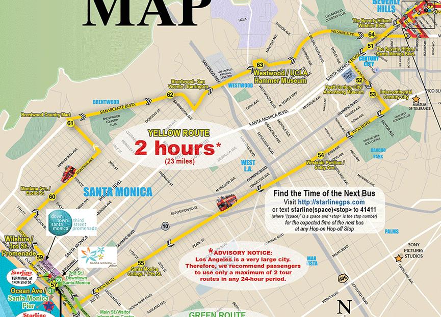 Hoponhopoff Bustour Los Angeles Reisefeeling: Starline Hop On Hop Off Los Angeles Map At Infoasik.co