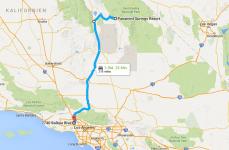 Fahrt von Panamint Springs nach Los Angeles