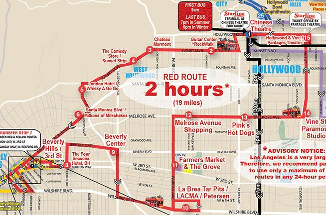 Toronto Tour Bus Map
