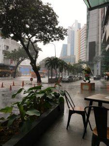 Regen in Kuala Lumpur