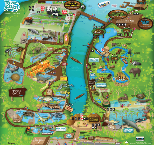 Karte der River Safari