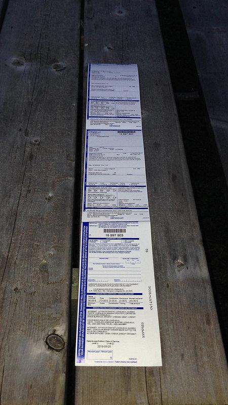 Montreal - Strafzettel