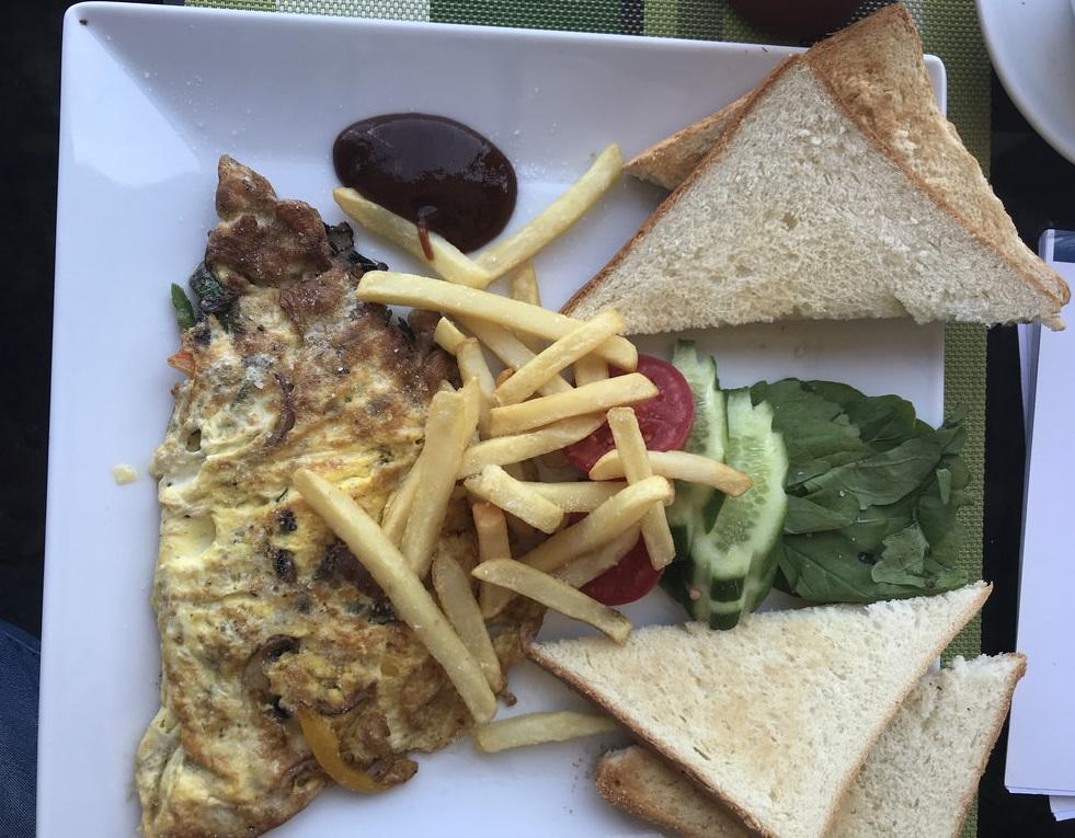 Gemüse-Omelett - Granada Restaurant