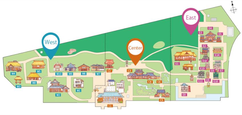 Plan des Edo Freilichtmuseum Tokio (Architektur)