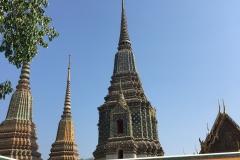 Chedis - Wat Pho - Bangkok Temple-Tour