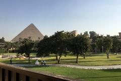 Mena House Hotel - Pyramiden-Blick vom Balkon