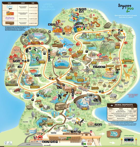 Karte vom Singapur Zoo